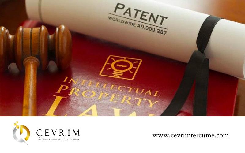 Patent Tercümesi