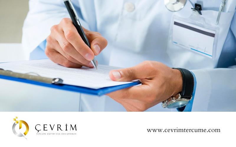 Sağlık Raporu Tercümesi